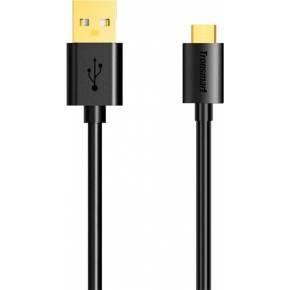 Кабель Tronsmart MUS01 Premium USB Cable 0.3m With Gold-Plated Connectors Black